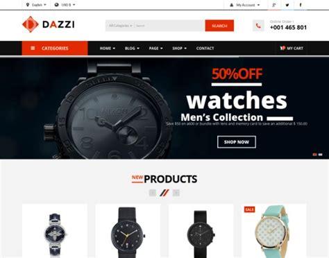 vina dazzi virtuemart template for watches store