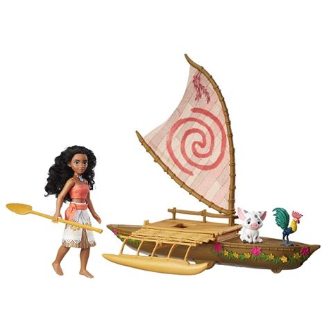 moana figures with boat giveaway disney s moana starlight canoe and friends