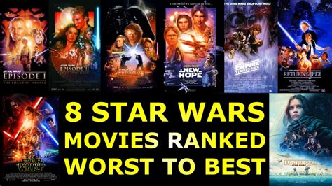 watch new star wars movie name and release date 8 star wars movies ranked worst to best youtube
