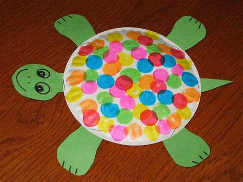 kindergarten craft paperplate turtle