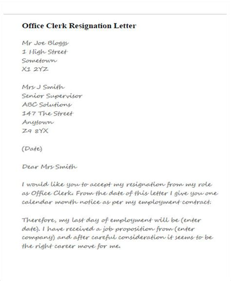 Office Resignation Letter Format by 33 Resignation Letters Sles Templates In Pdf