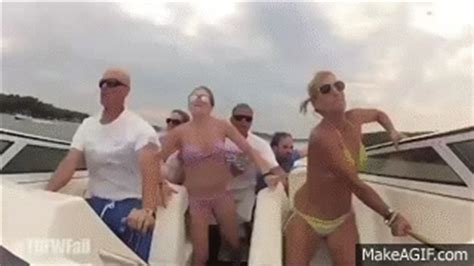 boat crash get down for what turn down for what fail bikini girls boat crash remix