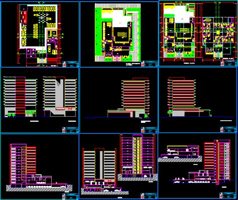 office layout plan dwg bank and office building dwg file architecture world