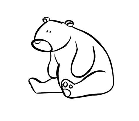 imagenes para pintar oso image gallery osos dibujos color