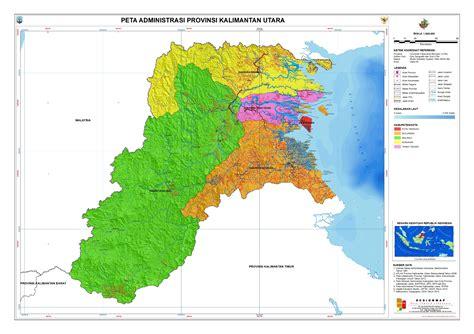 layout peta tematik administrasi provinsi kalimantan utara peta tematik
