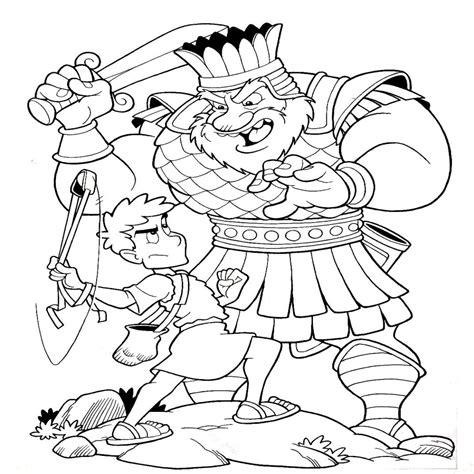 dibujos para colorear de david y goliat dibujos biblicos para colorear del rey david