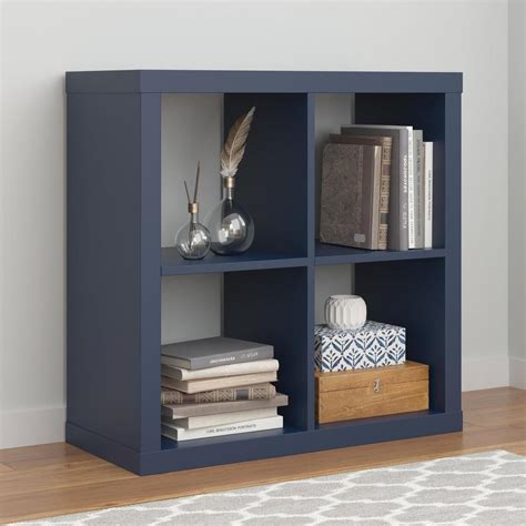 ameriwood parsons navy bookcase 7682596com the home depot