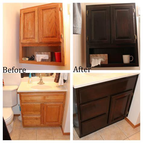 how to restain kitchen cabinets darker staining kitchen
