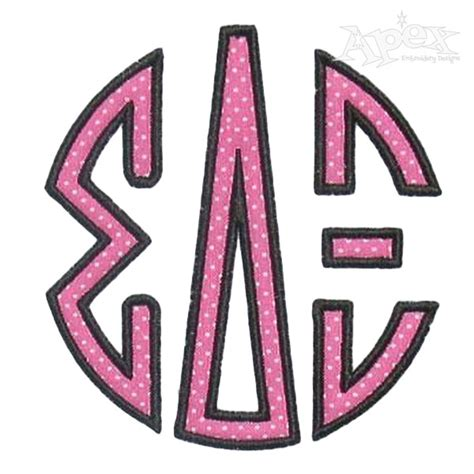 embroidery design greek letters greek circle round applique embroidery fonts