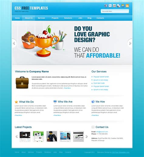 free css portfolio templates free portfolio website css template in blue color scheme