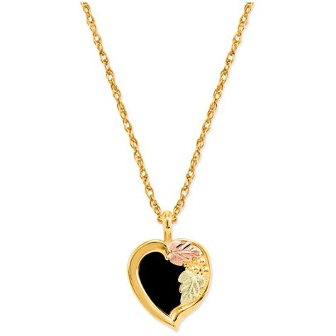 Kalung Black Gold Ring Necklace black gold 10k onyx pendant necklace 223283 jewelry at sportsman s guide