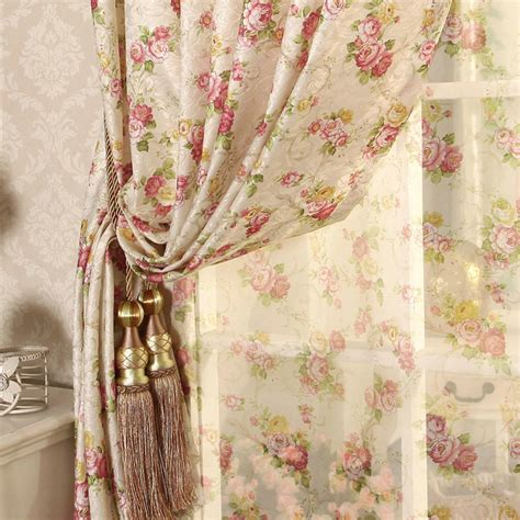 cretonne curtains the new european style floor l korean garden fabric