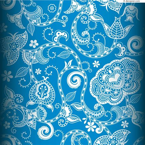 blue pattern background vector 4 designer beautiful blue pattern background vector material