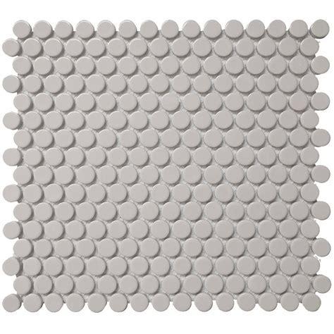 Roca Color Collection Mosaics 12 x 12 Grey Penny Round