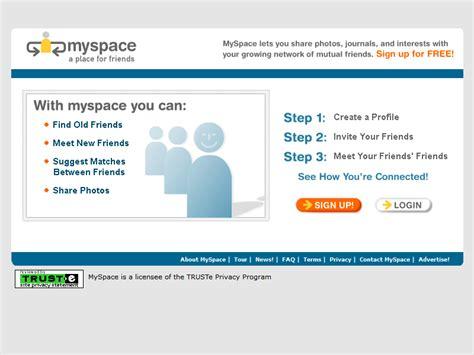 Design My Space myspace 2003 timeline web design museum