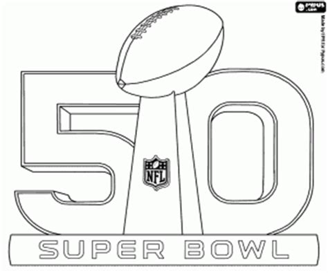 super bowl coloring page logo of the super bowl 50 coloring page printable game