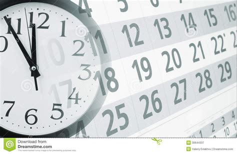 Calendar With Clock Collage With Clock And Calendar Royalty Free Stock
