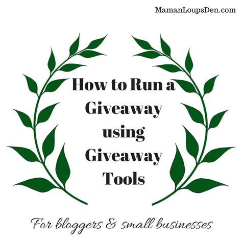 How To Set Up A Giveaway - how to run a giveaway using giveaway tools