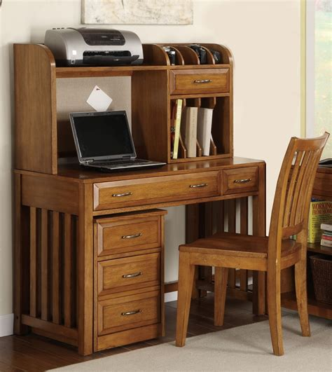 kate collection writing desk hton bay writing desk hutch in oak finish by liberty