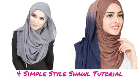 youtube tutorial shawl simple tutorial shawl 4 simple style shawl tutorial hijab