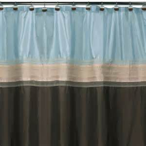 buy brown blue shower curtain from bed bath beyond