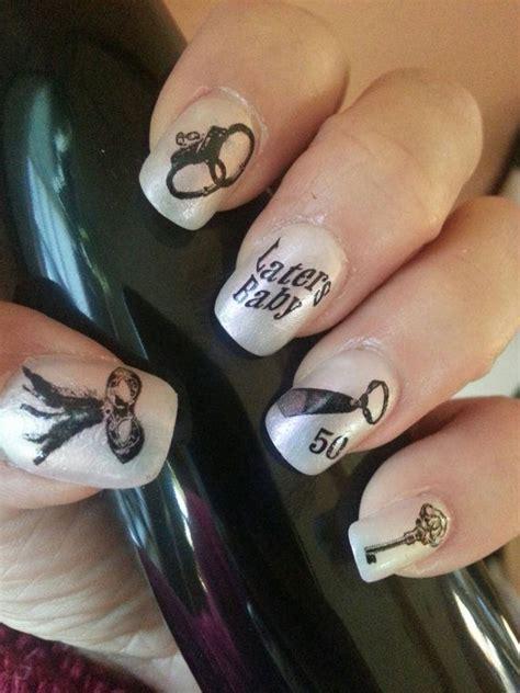 fifty shades of grey nails easy nail art tutorial 50 shades of 22 fifty shades of grey nail art decals 50 by northofsalem