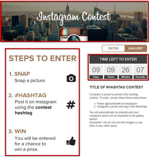 Template Overview Instagram Hashtag Template Heyo Support Portal Heyo Support Portal Giveaway Instagram Template