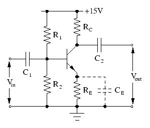 capacitors in common emitter lifier circuit transistor circuits