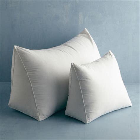 reading wedge bed pillow down free fill reading wedge pillow medium the company