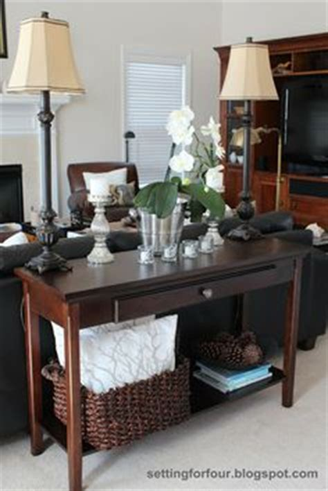 how to decorate sofa table sofa tables on pinterest sofa table decor table behind