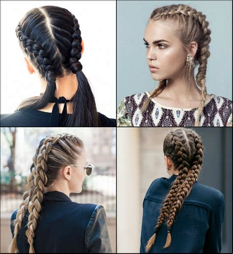 popular hair braid styles volitional double braids hairstyles to dare look different