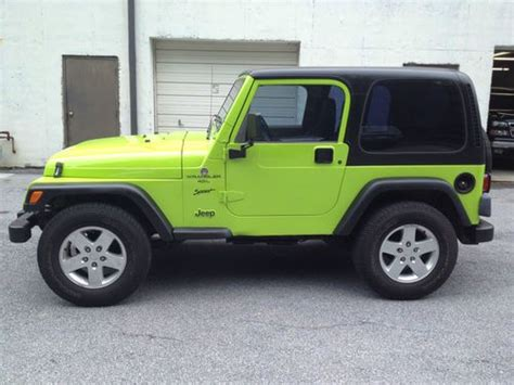 Gecko Green Jeep Wrangler For Sale Find Used 2012 Jeep Wrangler Gecko Green Look A Like 1999