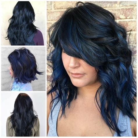 Medium Length Hairstyles 2017 For Black by Blue Black Hairstyle Ideas Haircuts Hairstyles 2017 And
