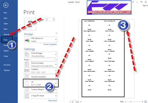 format print alamat di lop cara membuat format label di undangan amplop di office