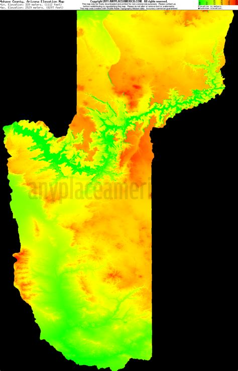 arizona elevation map free mohave county arizona topo maps elevations