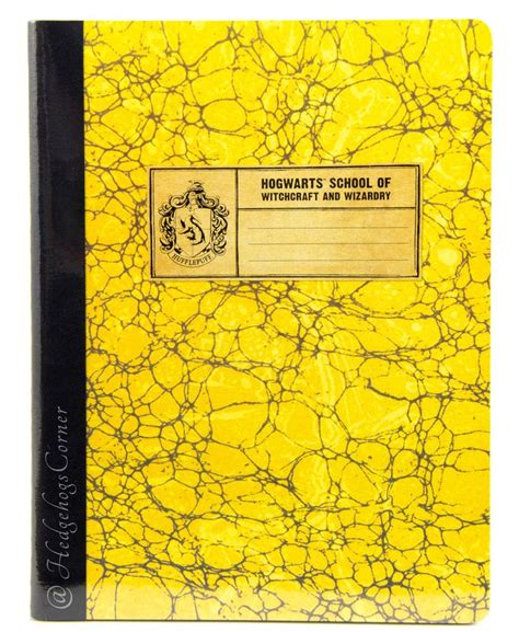 harry potter hufflepuff ruled notebook books wizarding world harry potter hogwarts school composition