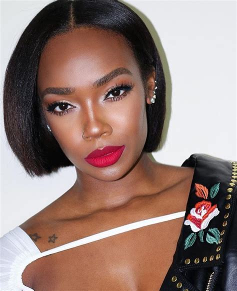 hair style galleries short wigs for black women fascinating middle part short straight bob hairstyles wigs