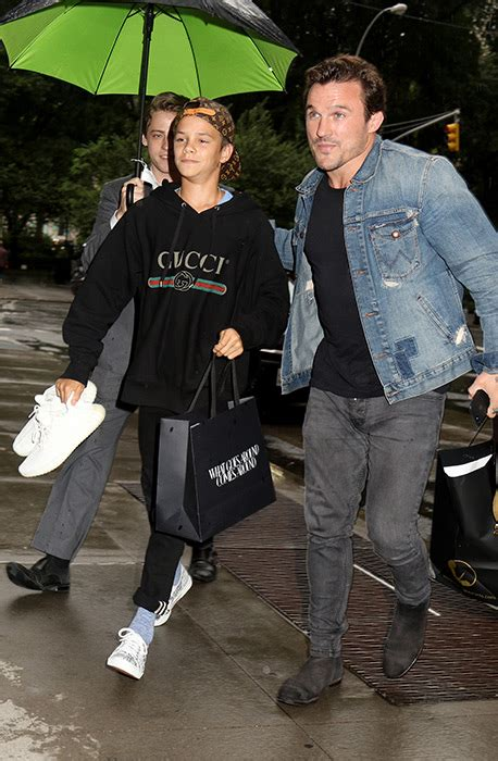 romeo beckham outfits victoria beckham embraces the pyjama trend in new york
