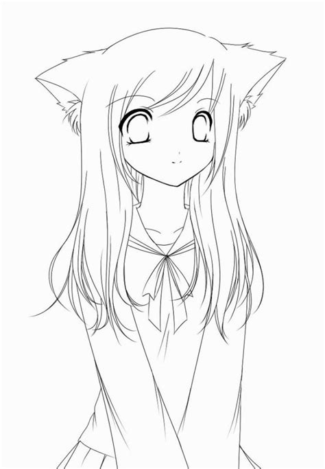 girl template coloring page anime coloring pages coloring pages pinterest