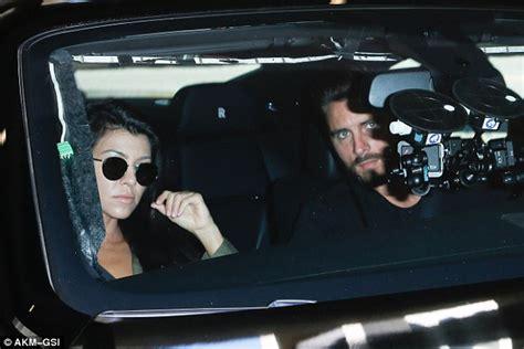 kourtney kardashian c section kourtney kardashian and scott disick arrive to visit chyna