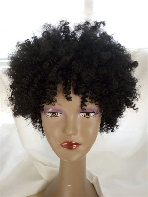 Wig Axela Curly 3 sale black color curly wig american black hairstyle curl afro curl 10