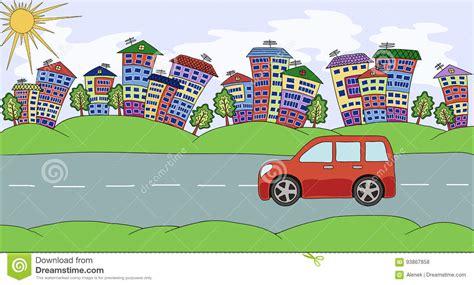 si鑒e auto dos タ la route paisagem feito a m 227 o da cidade do desenho casas 225 rvores