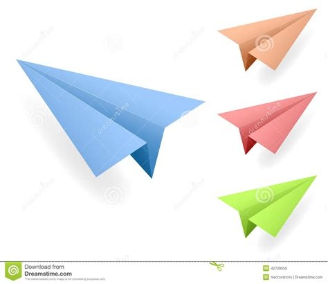 Paper Aeroplanes - paper planes vectors stock illustration image 42709555