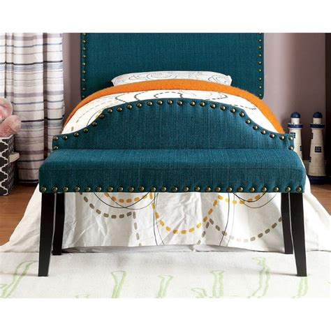 fabric bench for bedroom furniture of america davos fabric bedroom bench in dark