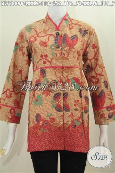 Finejo Blus Katun Kerah Polo model terkini blus plisir polos kerah shanghai model baju batik modern 2018