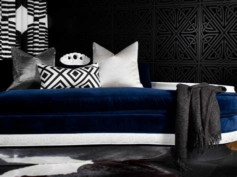 blue black and white bedroom photos hgtv