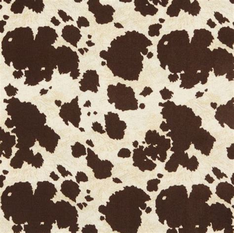 Brown And White Cowhide Fabric Brown And White Cow Print Microfiber By Discountedfabrics