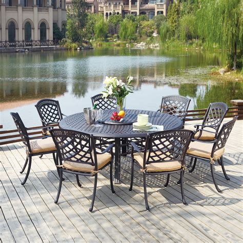 Outdoor Dining Sets For 8 10 Darlee Sedona 10 Outdoor Dining Set Atg Stores