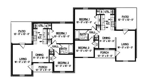 ranch duplex floor plans one story duplex house plans www pixshark com images