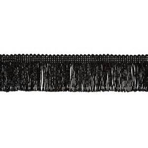 Upholstery Fringe Trim 2 Quot Metallic Chainette Fringe Trim Black Discount